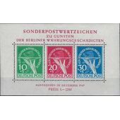 BERLIN 1949, SOUVENIR SHEET MICHEL BL1